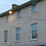 Heritage style vertical sash windows.